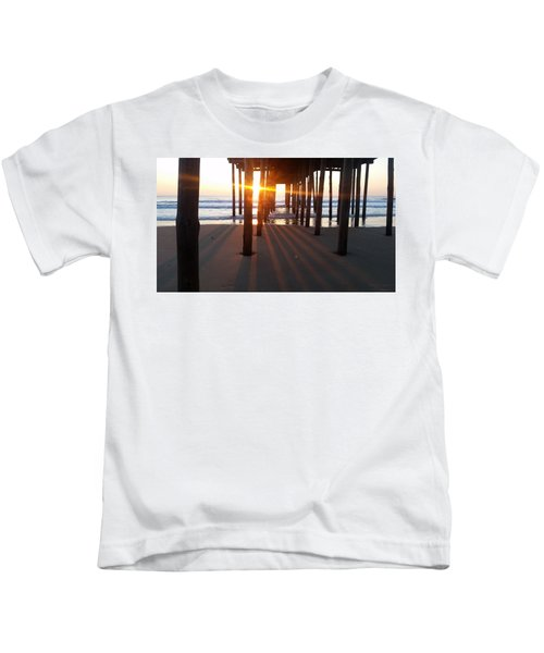 Pier Shadows Kids T-Shirt