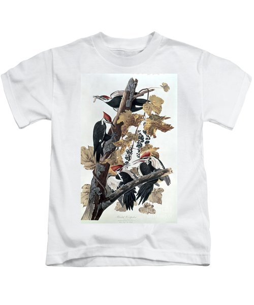 Pileated Woodpeckers Kids T-Shirt