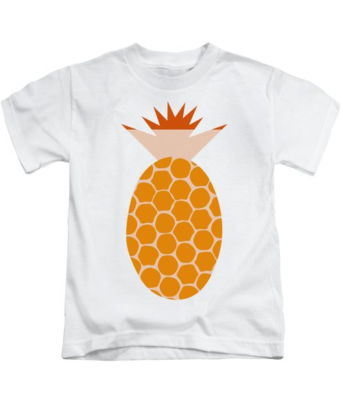 Pineapple Kids T-Shirt by Frank Tschakert