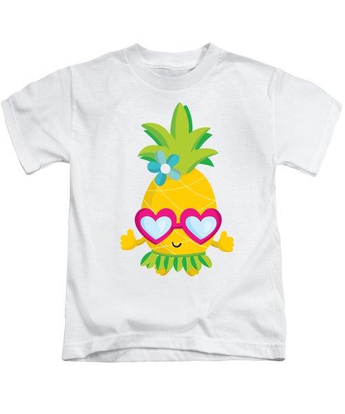 Pineapple Hula Kids T-Shirt