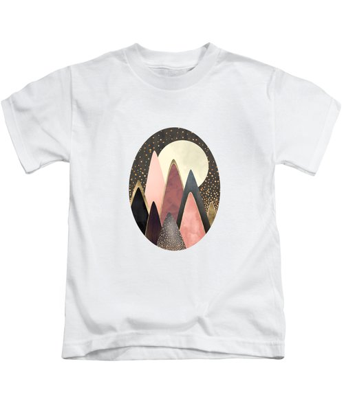 Pink And Gold Peaks Kids T-Shirt