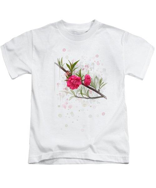 Hot Pink Blossom Kids T-Shirt
