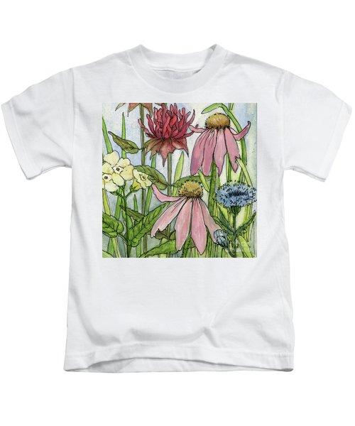 Pink Coneflower Kids T-Shirt