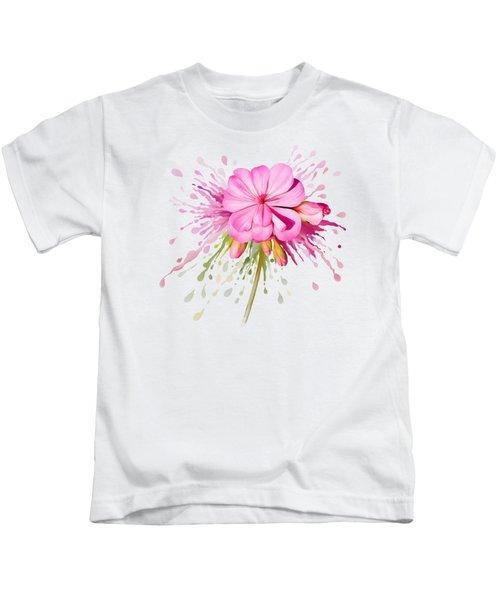 Pink Eruption Kids T-Shirt