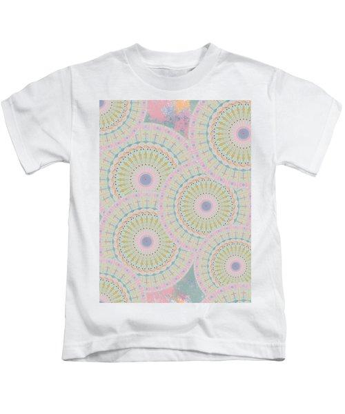 Pink Mandala Pattern Kids T-Shirt