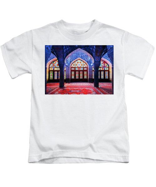 Pink Mosque, Iran Kids T-Shirt