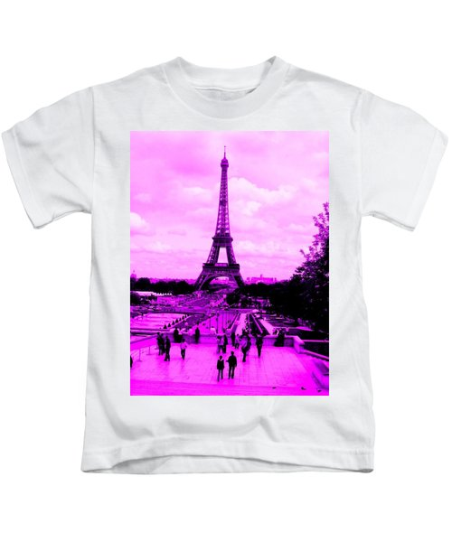 Pink Paris Kids T-Shirt