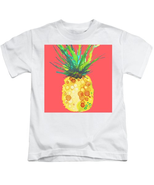 Pink Pineapple Daquari Kids T-Shirt by Marla Beyer