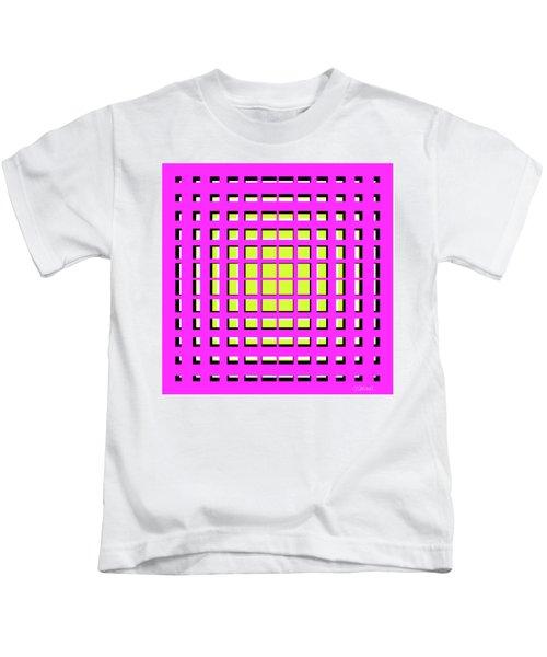Pink Polynomial Kids T-Shirt