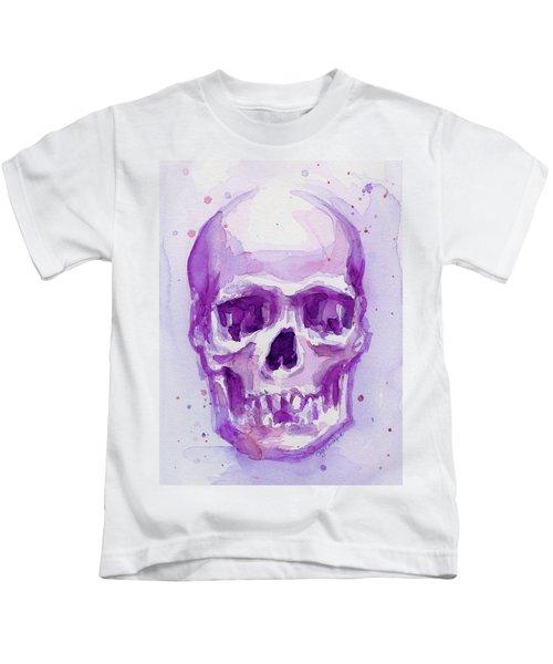 Pink Purple Skull Kids T-Shirt