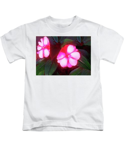 Pink Red Glow Kids T-Shirt