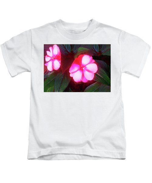 Pink Red Glow Kids T-Shirt