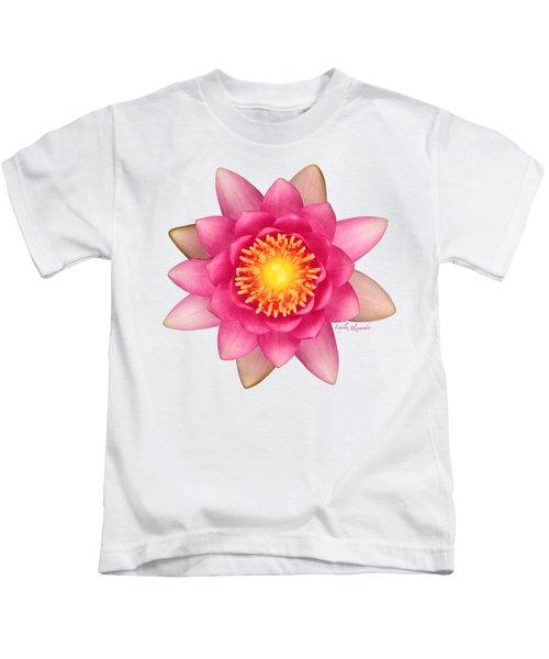 Pink Water Lily Yellow Nectar Transparent Kids T-Shirt