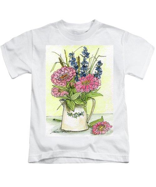 Pink Zinneas Kids T-Shirt