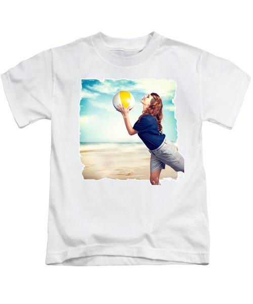 Pinup Beach Fun Kids T-Shirt