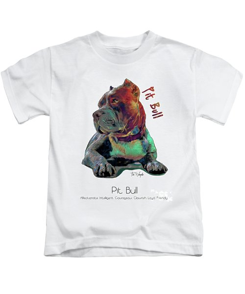 Pit Bull Pop Art Kids T-Shirt
