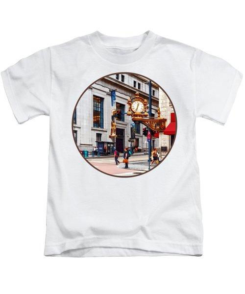 Pittsburgh Pa - Corner Of Smithfield And Fifth Kids T-Shirt