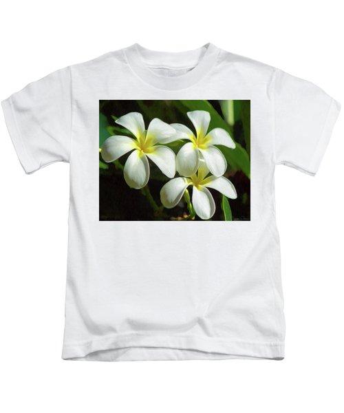 Plumeria Trio Kids T-Shirt