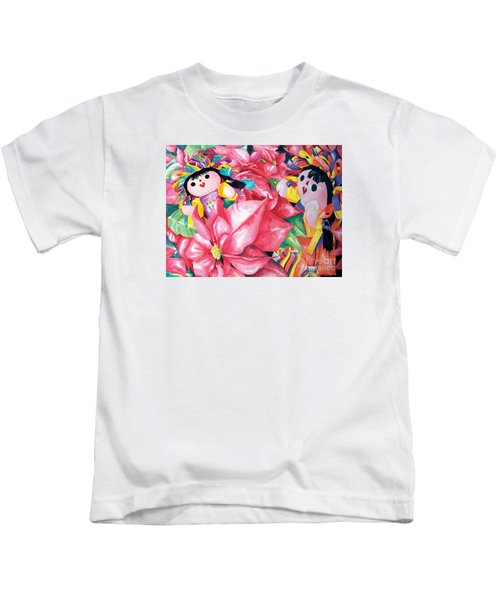 Poinsettia Christmas Kids T-Shirt