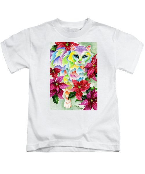 Poinsettia Sweetheart Kids T-Shirt
