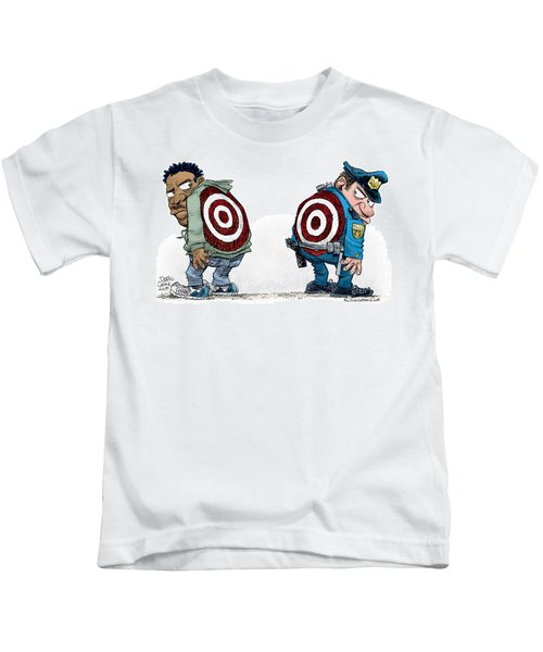 Police And Black Folks Are Targets Kids T-Shirt