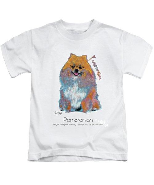 Pomeranian Pop Art Kids T-Shirt