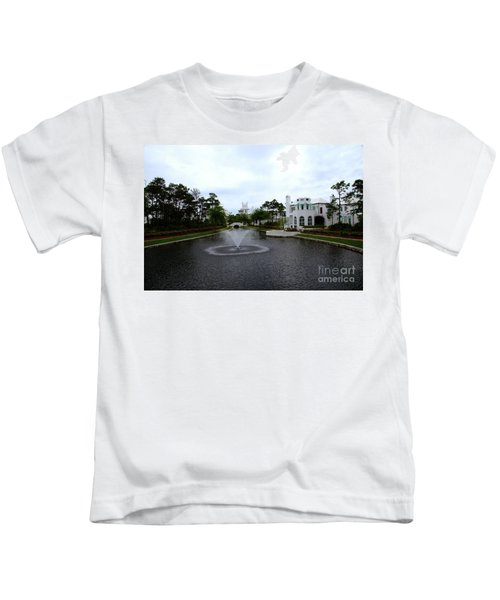 Pond At Alys Beach Kids T-Shirt