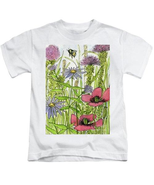 Poppies And Wildflowers Kids T-Shirt