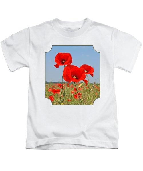 Poppy Fields 4 Kids T-Shirt