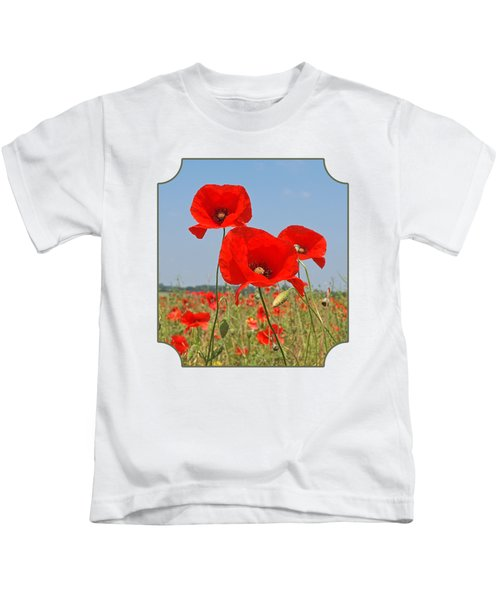 Poppy Fields 4 Kids T-Shirt