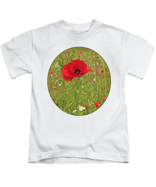 Poppy With Bud Kids T-Shirt