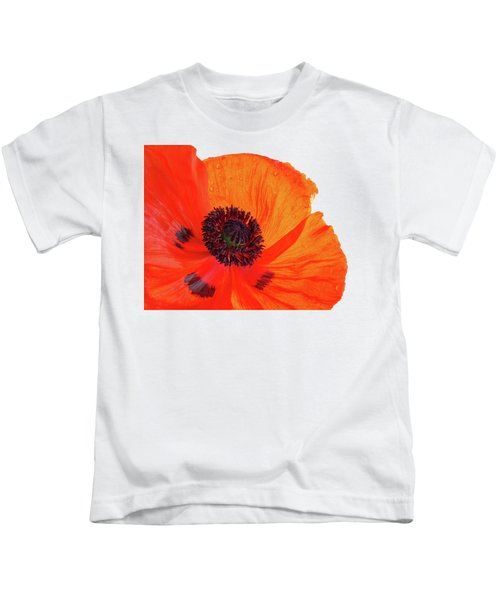 Poppy With Raindrops 3 Kids T-Shirt