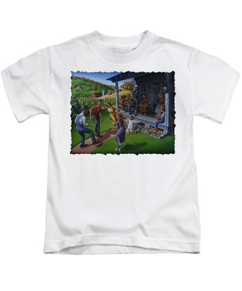 Porch Music And Flatfoot Dancing - Mountain Music - Appalachian Traditions - Appalachia Farm Kids T-Shirt