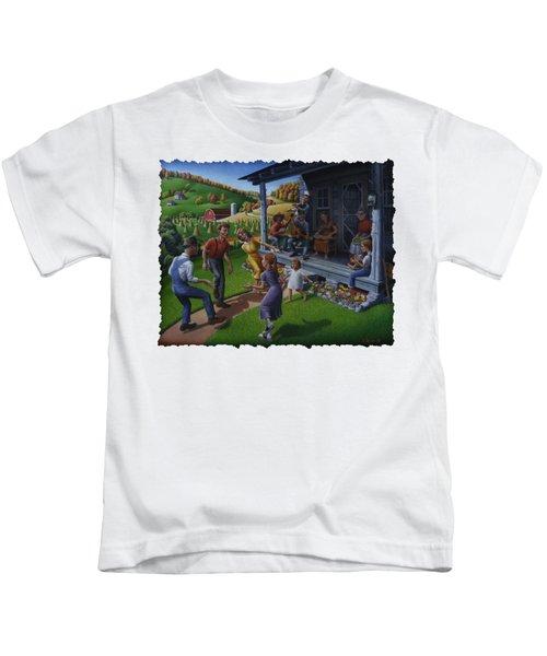 Porch Music And Flatfoot Dancing - Mountain Music - Appalachian Traditions - Appalachia Farm Kids T-Shirt