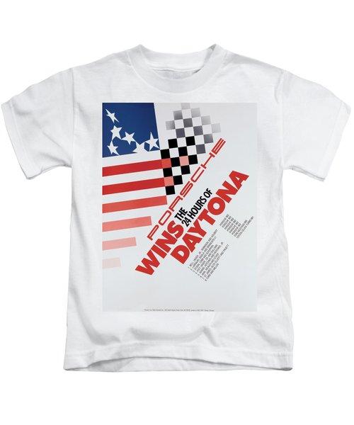 Porsche 24 Hours Of Daytona Wins Kids T-Shirt