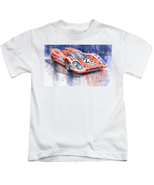 Porsche 917k Winning Le Mans 1970 Kids T-Shirt