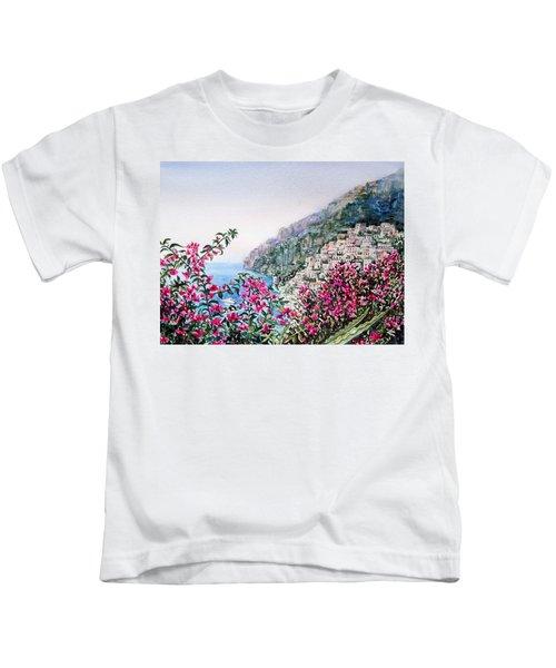 Positano Italy Kids T-Shirt