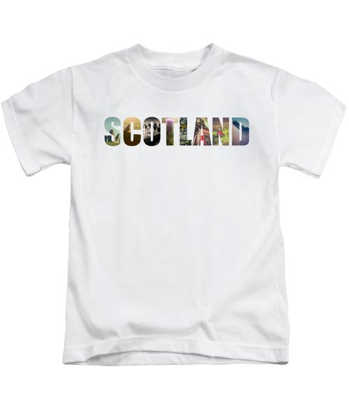 Postcard For Scotland Kids T-Shirt by Mr Doomits