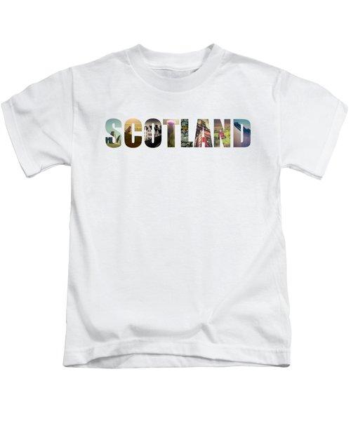 Postcard For Scotland Kids T-Shirt