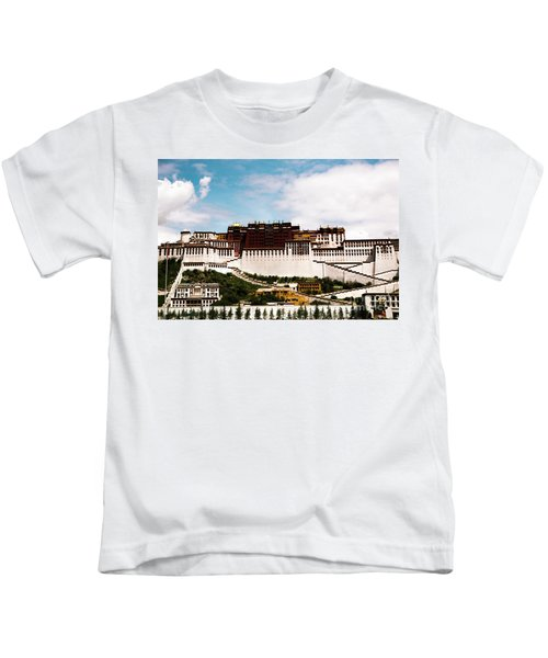 Potala Palace Dalai Lama Home Place. Tibet Kailash Yantra.lv 2016  Kids T-Shirt