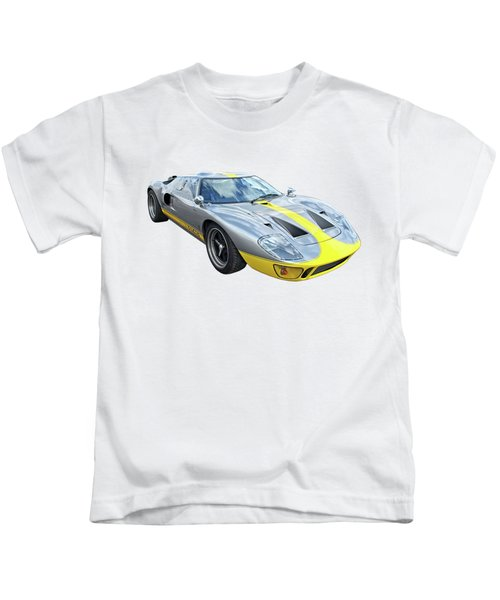 Power And Performance - Ford Gt40 Kids T-Shirt