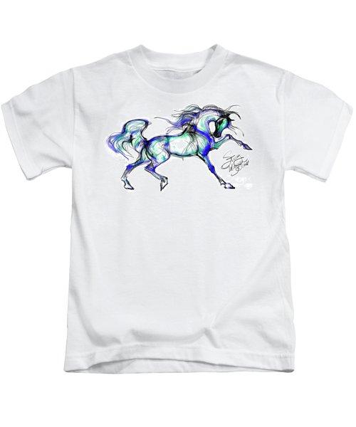 Prancing Arabian Horse Kids T-Shirt