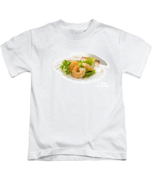 Prawn Appetizer Kids T-Shirt by Amanda Elwell