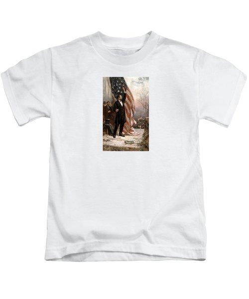 President Abraham Lincoln Giving A Speech Kids T-Shirt