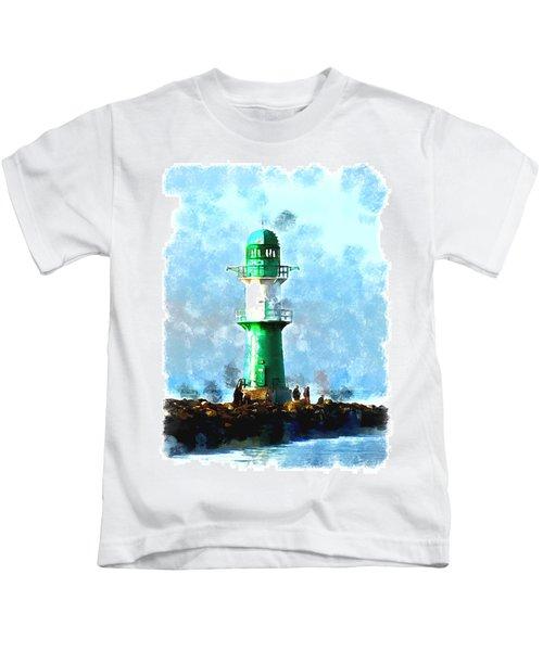 Beautiful Lighthouse  Kids T-Shirt