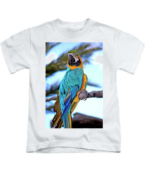 Pretty Parrot Kids T-Shirt