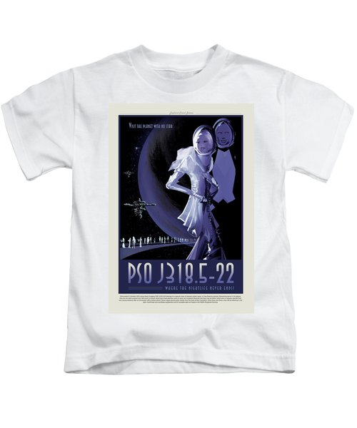 Pso J318.5-22 - Where The Nightlife Never Ends - Vintage Nasa Po Kids T-Shirt