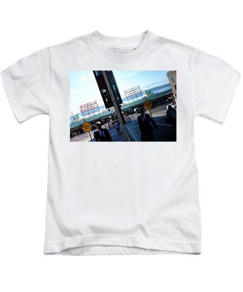 Public Market In Seattle Washington Kids T-Shirt