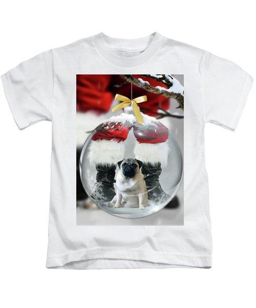 Pug And Santa Kids T-Shirt