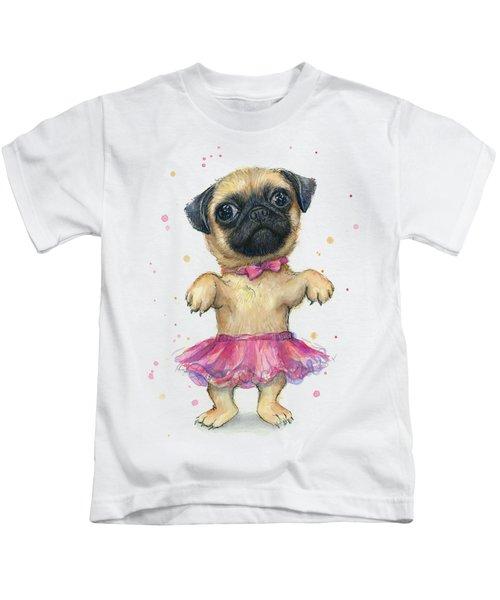 Pug In A Tutu Kids T-Shirt